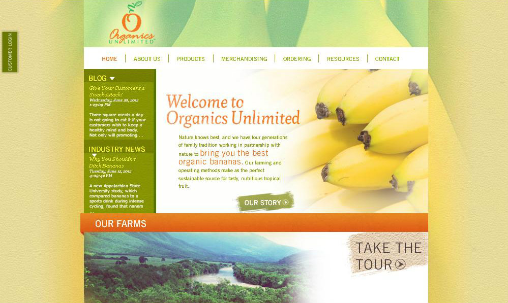 Organics Unlimited Website Screenshot