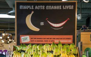 organic produce sign graphic design retail